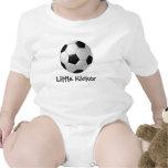 Ropa adaptable del bebé del diseño del fútbol trajes de bebé