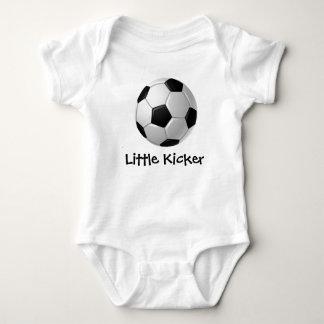 Ropa adaptable del bebé del diseño del fútbol poleras