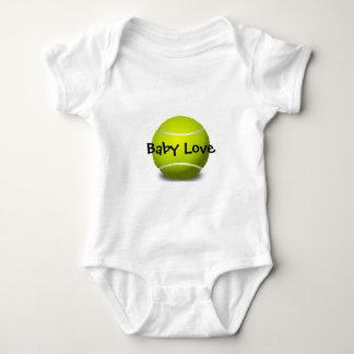 Ropa adaptable del bebé del diseño del tenis camisas