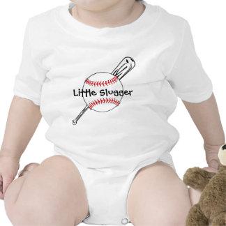 Ropa adaptable del bebé del pequeño béisbol del ba camiseta