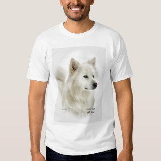 Ropa americana del arte del perro esquimal remeras