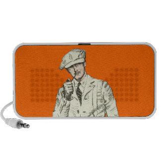 Ropa anaranjada del humo del tubo de la moda de lo iPod altavoz