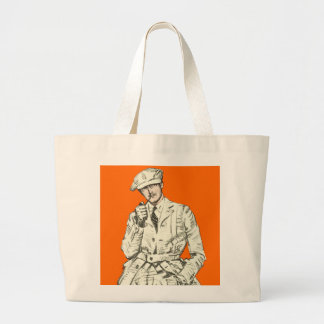 Ropa anaranjada del humo del tubo de la moda de lo bolsas lienzo
