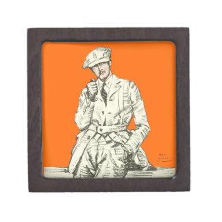 Ropa anaranjada del humo del tubo de la moda de lo caja de joyas de calidad
