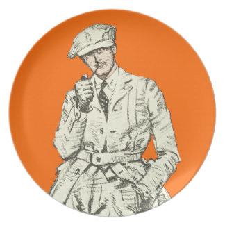 Ropa anaranjada del humo del tubo de la moda de lo plato