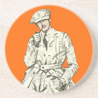 Ropa anaranjada del humo del tubo de la moda de lo posavasos manualidades