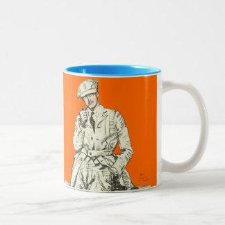 Ropa anaranjada del humo del tubo de la moda de lo tazas de café