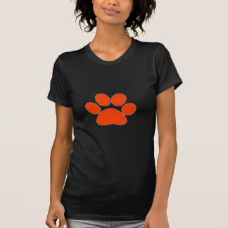 ¡Ropa anaranjada y más de la impresión de la pata! Camisetas