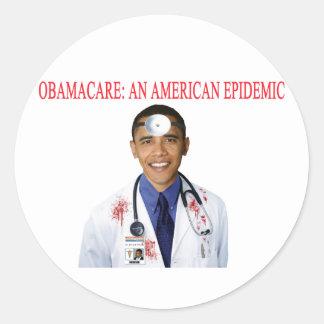 Ropa anti de la atención sanitaria de Obamacare Etiqueta Redonda