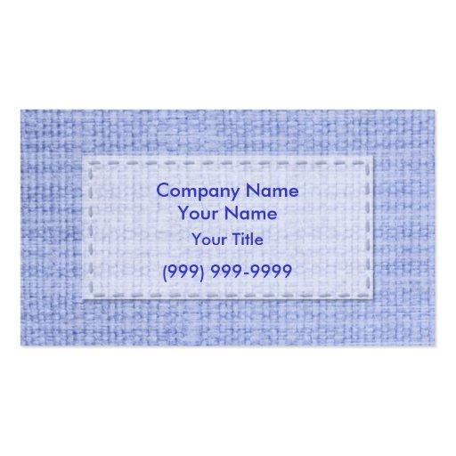 Ropa azul tarjeta personal
