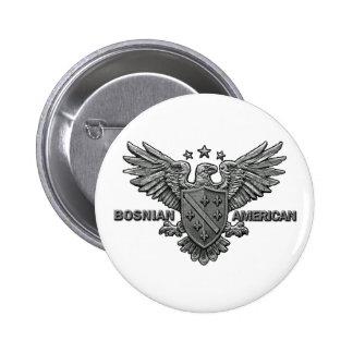Ropa bosnio de los americanos pin redondo de 2 pulgadas
