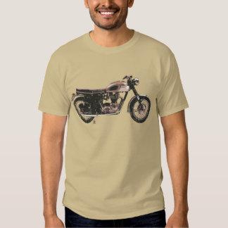Ropa británica apenada de la motocicleta del playera