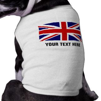 Ropa británica de encargo del perro casero de la playera sin mangas para perro