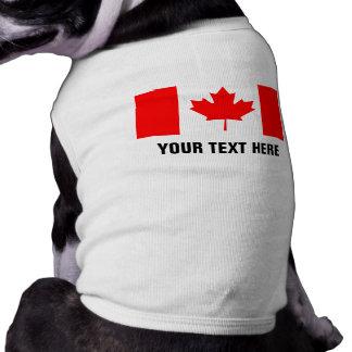Ropa canadiense de encargo del perro de la bandera playera sin mangas para perro