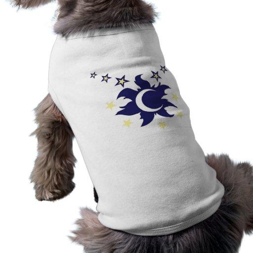 Ropa celestial del mascota playera sin mangas para perro