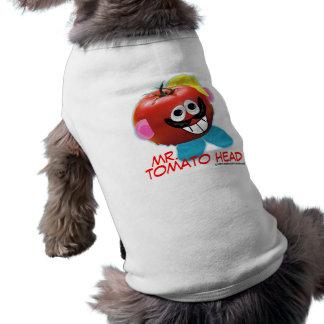 Ropa chistosa del mascota de la parodia de Sr. Tom Playera Sin Mangas Para Perro