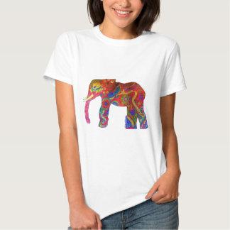 Ropa colorida del elefante remeras