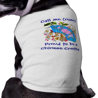 Ropa conocida con cresta china del mascota del mas playera sin mangas para perro