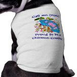 Ropa conocida con cresta china del mascota del mas camisetas de mascota