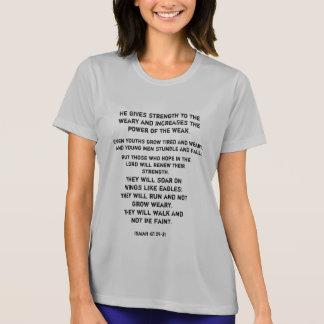 Ropa corriente con una bendición de la resistencia camiseta