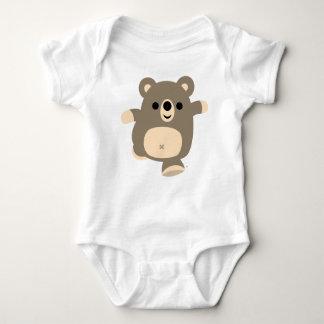 Ropa corriente linda del bebé del oso del dibujo poleras