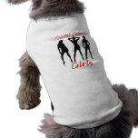 Ropa costera de la mascota de los chicas del calen camiseta de perro