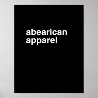 Ropa de Abearican - Impresiones