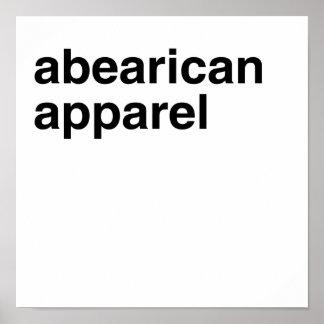 Ropa de Abearican Posters
