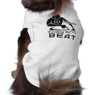 Ropa de encargo del mascota de DJ Playera Sin Mangas Para Perro