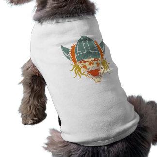 Ropa de encargo del mascota del cráneo de VIKING Playera Sin Mangas Para Perro