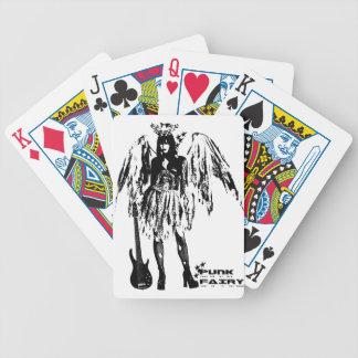 Ropa de hadas punky para los adultos y los niños baraja cartas de poker