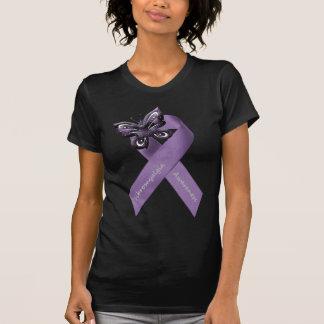 Ropa de la cinta de la mariposa del Fibromyalgia Tee Shirt