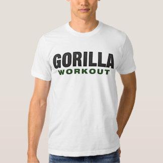Ropa de la luz del entrenamiento del gorila poleras