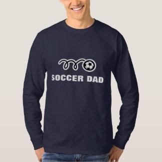 Ropa de la ropa del fútbol del papá de los hombres camisas