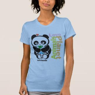 Ropa de las señoras de Panda® Pettite del amor Camiseta