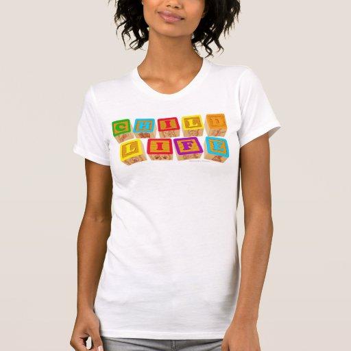 """Ropa de los """"bloques"""" de la vida del niño camisetas"""