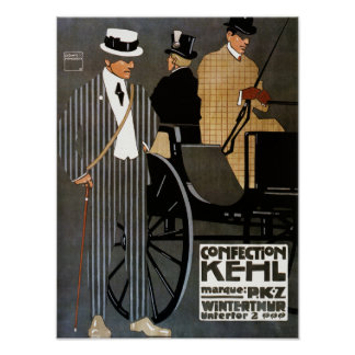 Ropa de los caballeros de Kehl de los dulces Póster