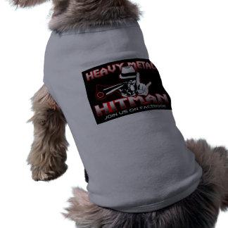 Ropa de metales pesados del mascota del Hitman Playera Sin Mangas Para Perro