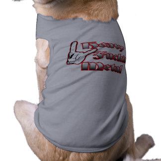 Ropa de metales pesados del mascota playera sin mangas para perro