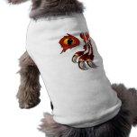 Ropa de ocultación del dragón rojo camisetas mascota