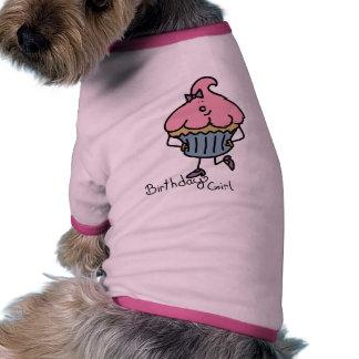 Ropa de Srta. Cuppy Cake Birthday Pet de Lil Camiseta Con Mangas Para Perro