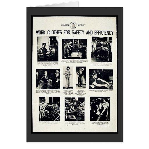 Ropa de trabajo para la seguridad y la eficacia tarjetas