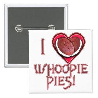 Ropa del amor de la empanada de Whoopie, Pin Cuadrado