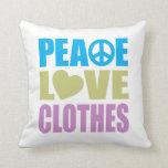 Ropa del amor de la paz almohadas