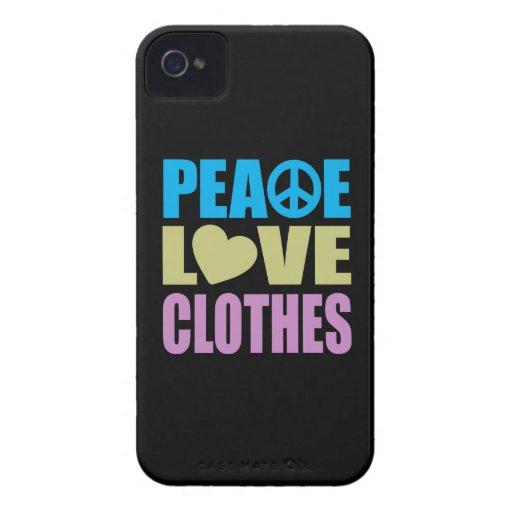 Ropa del amor de la paz iPhone 4 carcasas