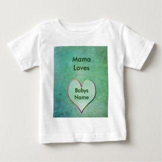 Ropa del bebé con amor camisas