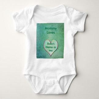 Ropa del bebé con amor remeras
