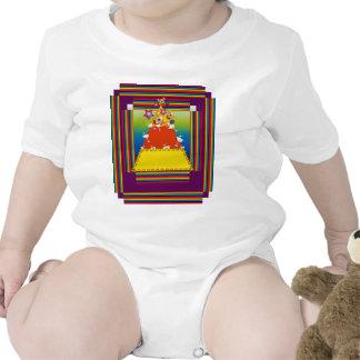 Ropa del bebé con diseño de la pepita del caramelo trajes de bebé