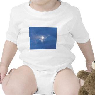 Ropa del bebé con la foto de la Luna Llena Trajes De Bebé