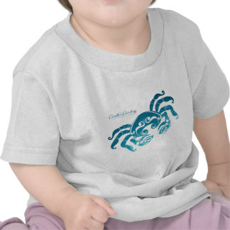 Ropa del bebé de la astrología del cáncer camisetas